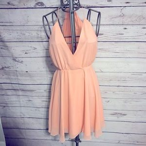 Haute Hippie Peach Dress